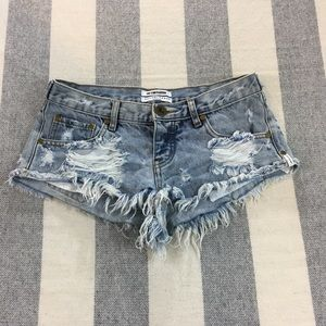 One Teaspoon Trash Whores Shorts Low Waist 26